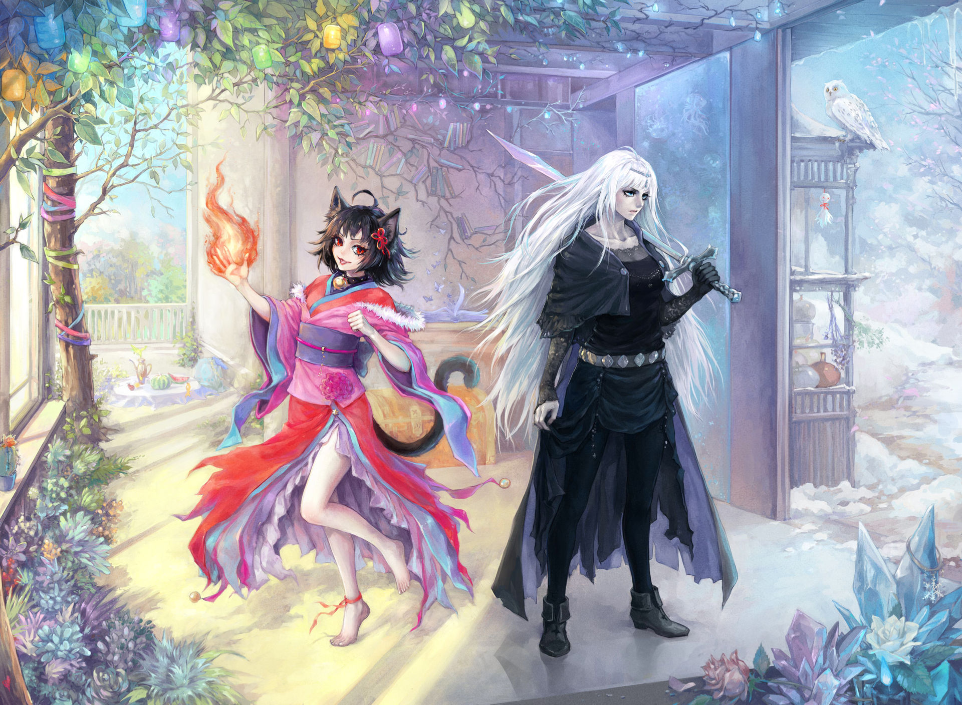 Commission: Beko+Kure by Aikorn