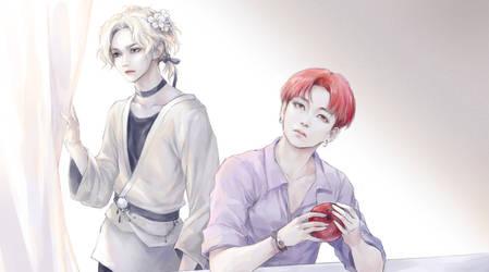 ATEEZ.Still here - Yeosang + Jongho