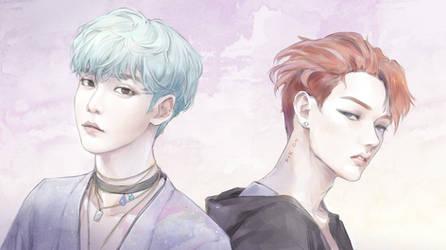 ATEEZ.Still here - Yunho + Mingi