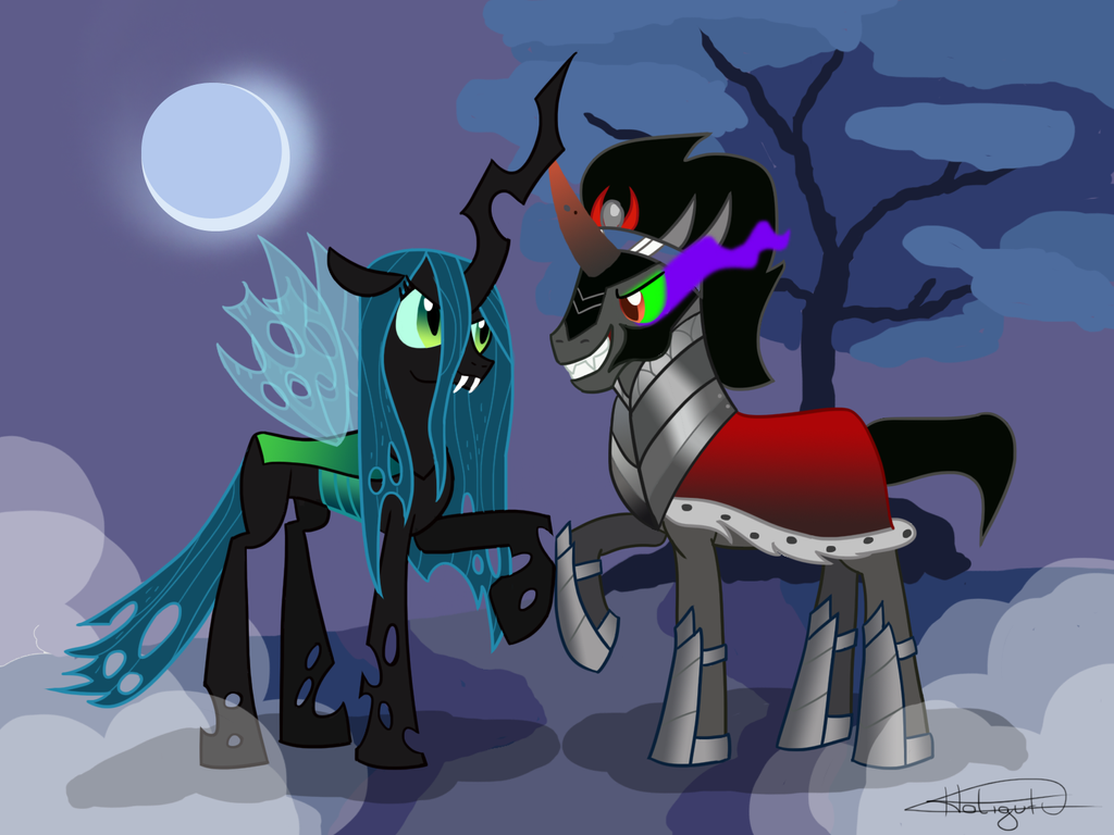 Queen Chrysalis And Twilight SparkleQueen Chrysalis And King Sombra Love