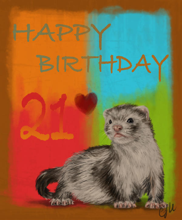 Ferret Birthday Card by HexeCobalt on DeviantArt – Ferret Birthday Card