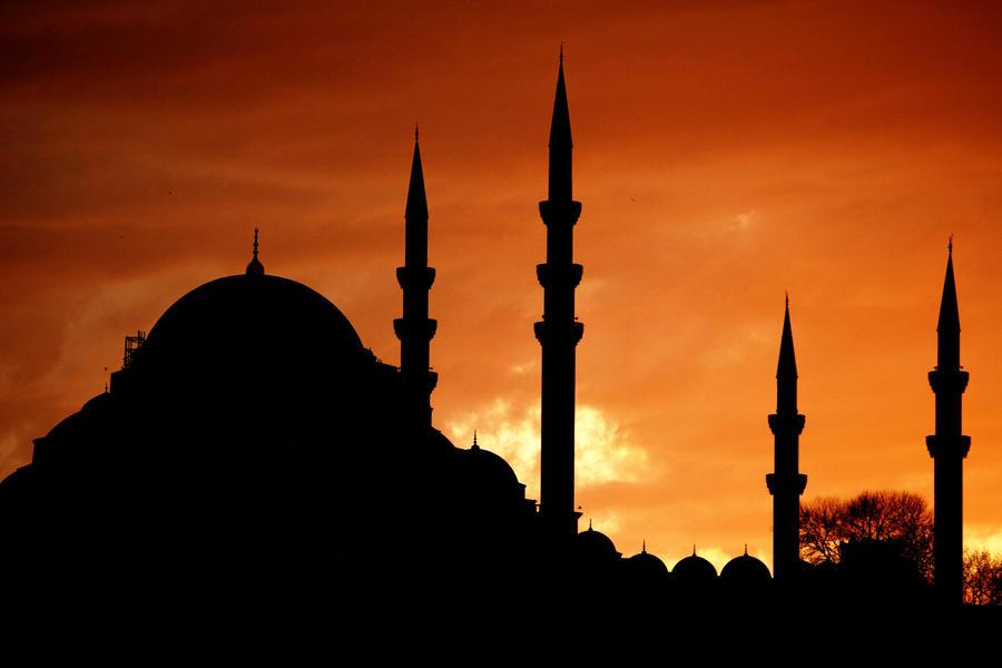 Debdoozle Ramadan 2013 Watercolor And Mosque Silhouette Art