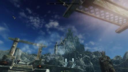Beautiful view of Dragonsreach by Cyberdoom5