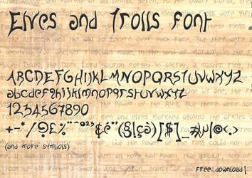 Elves and Trolls   Font by B0dah