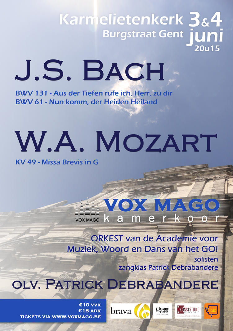 Poster design - Bach and Mozart concert by B0dah