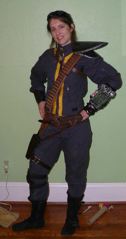 fallout 3 armored vault suit cosplay front by silvericedragon1 on