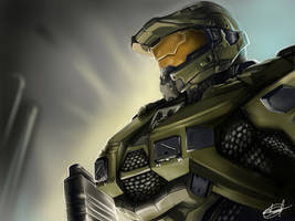 The Master Chief  halo 5 by SAMBSART