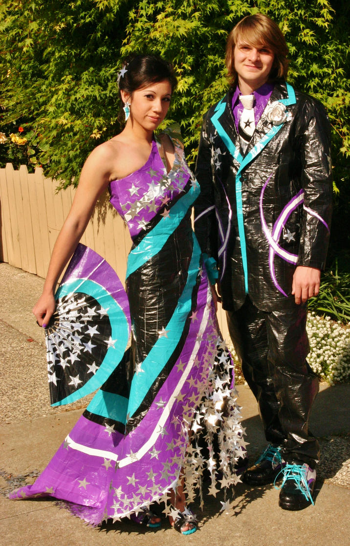 Duct Tape Prom Attire by Chelsey992
