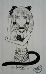 The Goddess of cats, Bastet/Inktober day 9