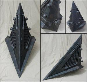 Pyramid Head helmet detail