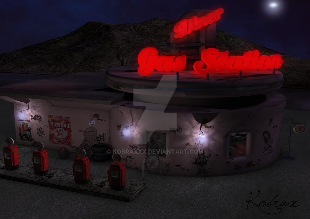 50's gas station by Kobraxxx