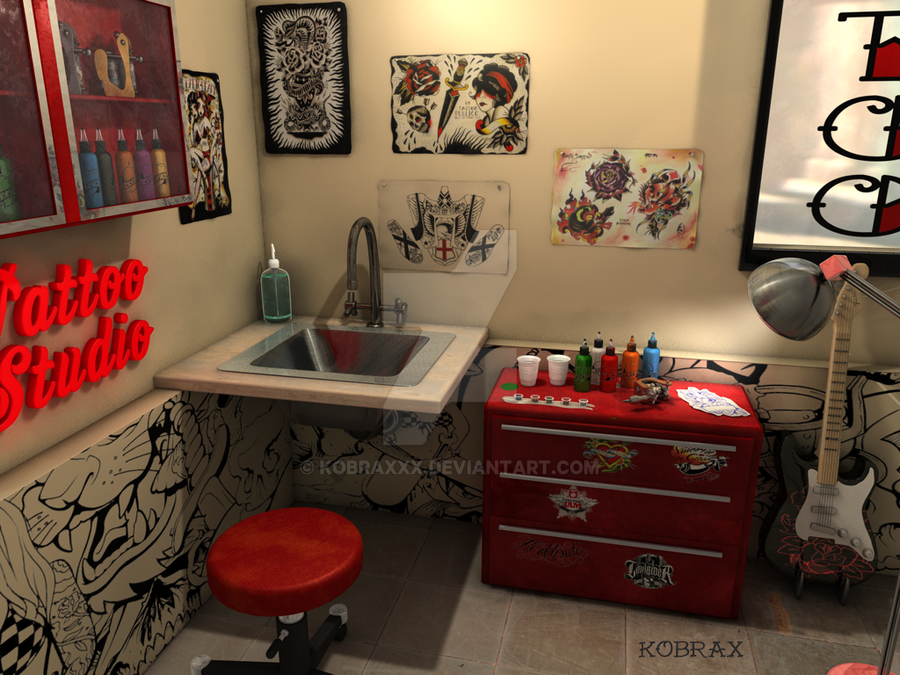 American tattoo studio by kobraxxx on deviantart for Tattoo shop design
