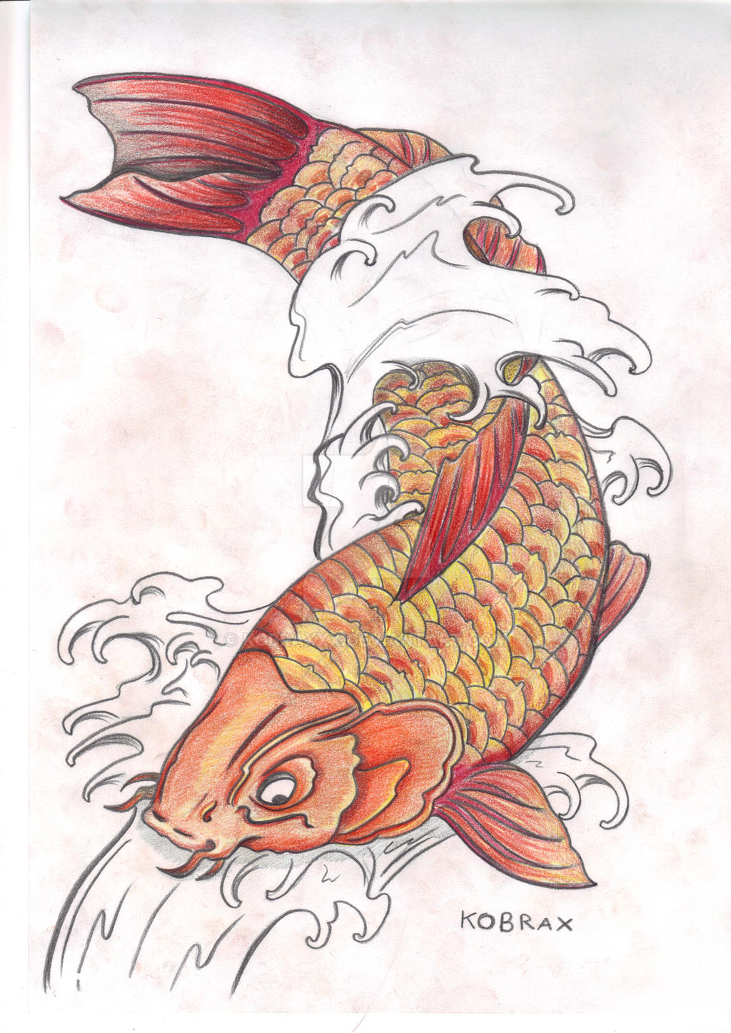 Image gallery koi japanese for Japanese koi fish drawing