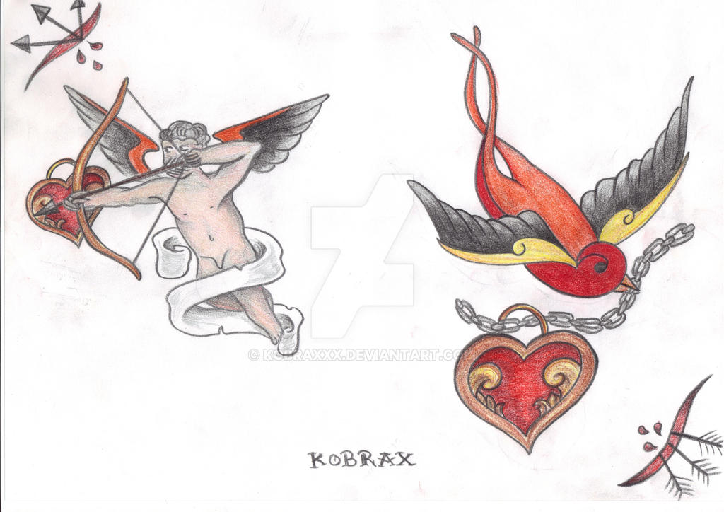 Italian Tattoo Flash V by Kobraxxx