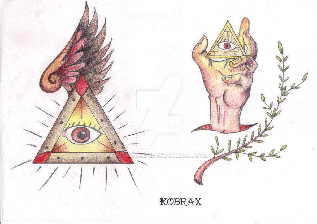 Tattoo Flash Traditional VI by Kobraxxx