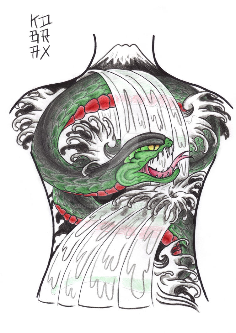 Japanese backpiece XIV by Kobraxxx