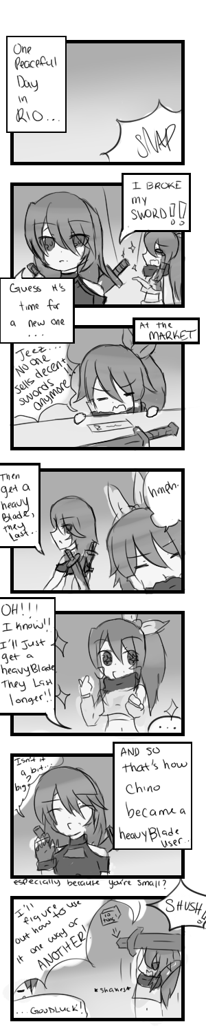 Chino's Heavy Blade Episode -RIO- by DEN2NeruAkita
