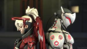 Mercy and Genji by GenjiMain