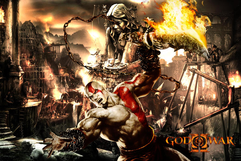 wallpaper god of war. God of War wallpaper by