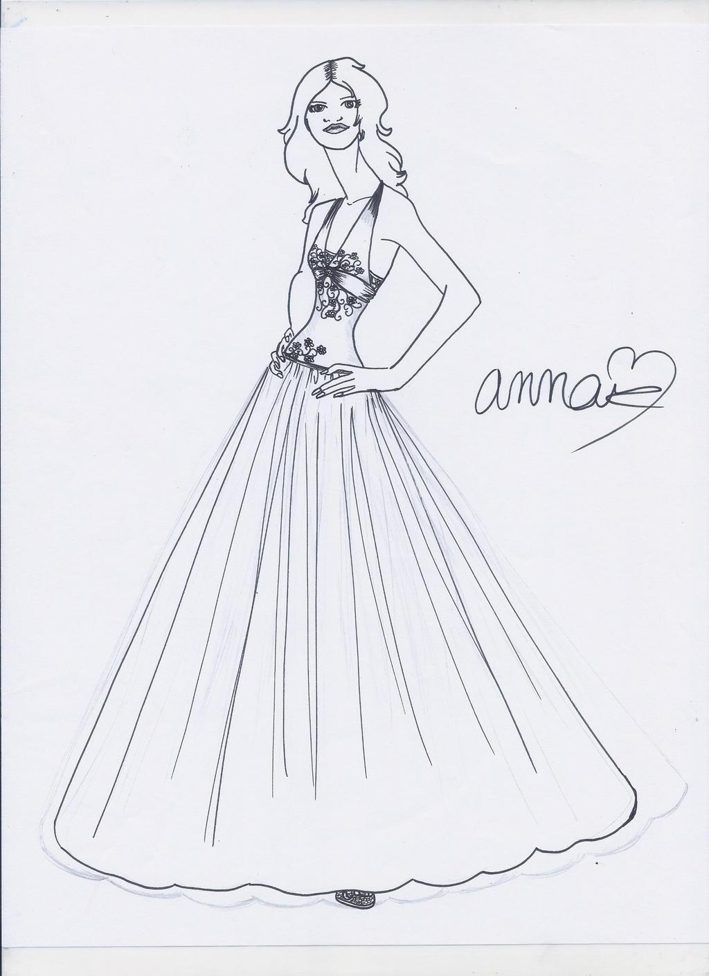 Dress Sketch by designdiva7733 on DeviantArt