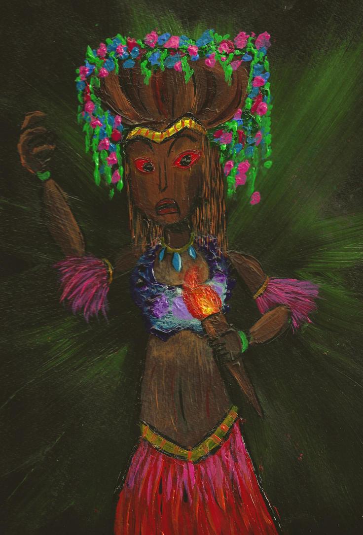 The Tiki Goddess by azukyle7
