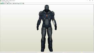 Iron Man Shotgun Paper Model