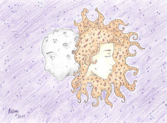 The Sun and The Moon by Lya-MaNOli