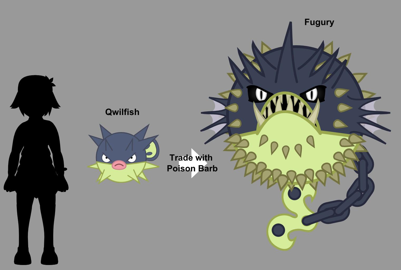 Qwilfish Evolution by Skeppio on DeviantArt