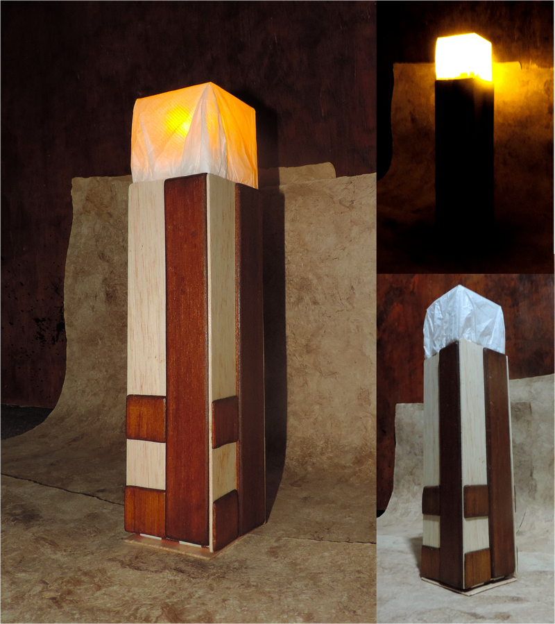 how to make a lamp in minecraft