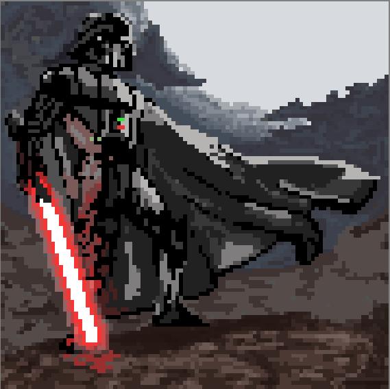 Pixel Art Time: Darth Vader by ARX-DM