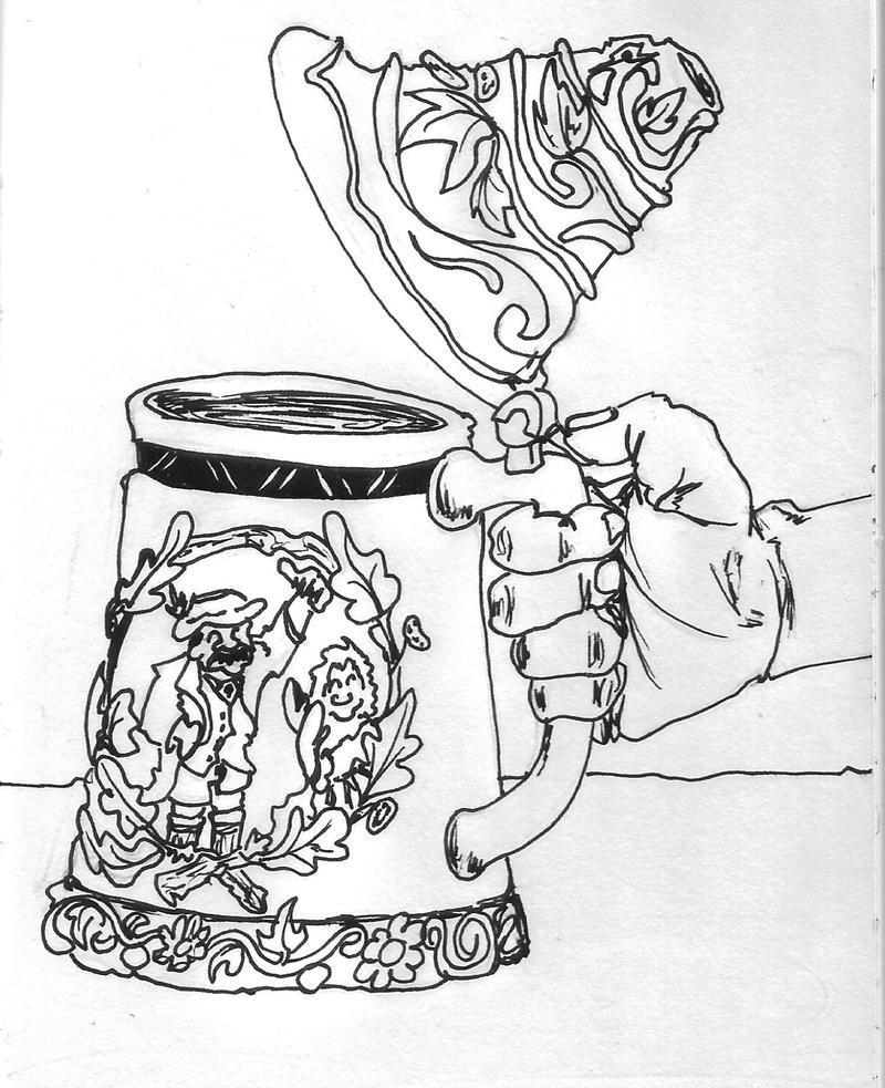 Inktober Day 19 - Beer Mug by ARX-DM