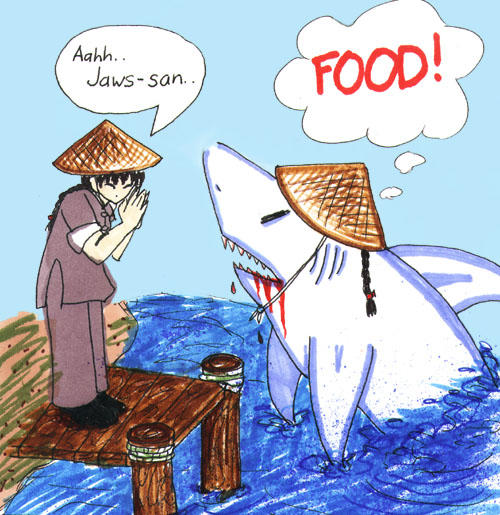 Jaws-san by evilekeeper