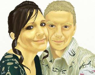 Kim and Dan by cherrisec