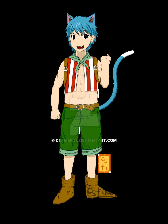 Fairy Tail - Happy's Human Form by CSFiReFoX on DeviantArt