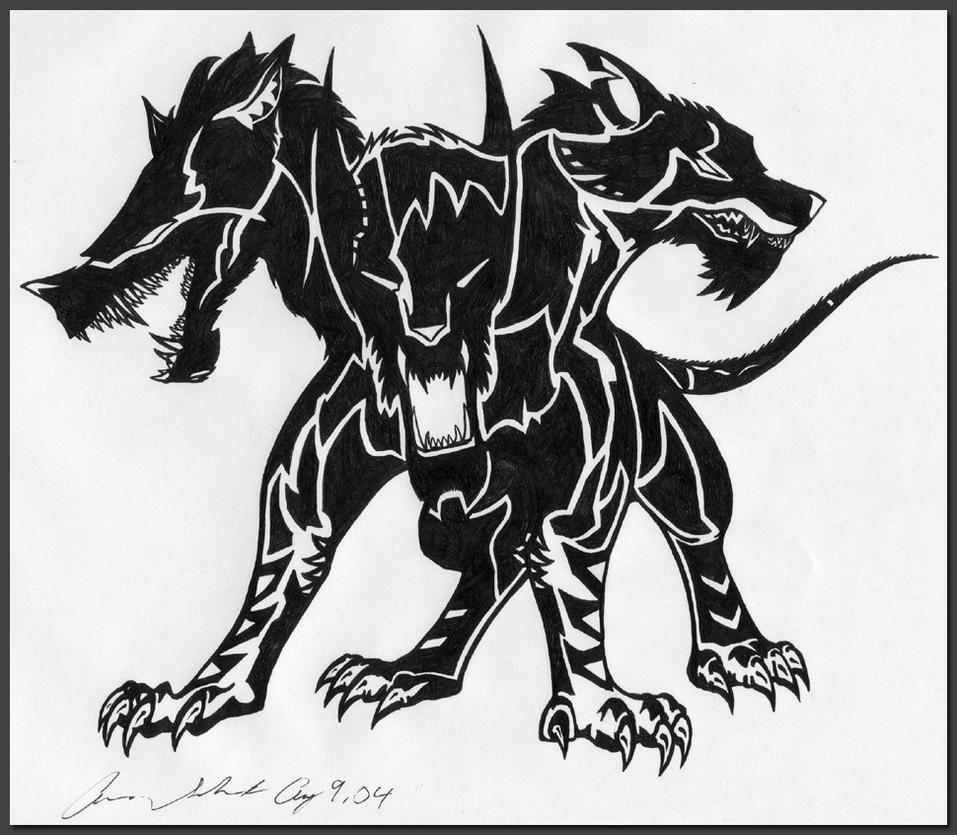 Cerberus Tattoo by Dusky-Hawk