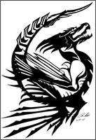 Altair Dragon Tattoo by Dusky-Hawk