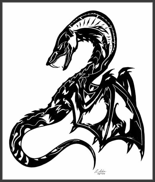 Winged Serpent Tattoo by ~Dusky-Hawk on deviantART