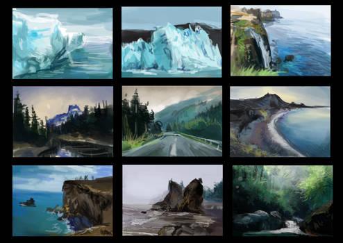 Landscape Thumbnail Photostudies.