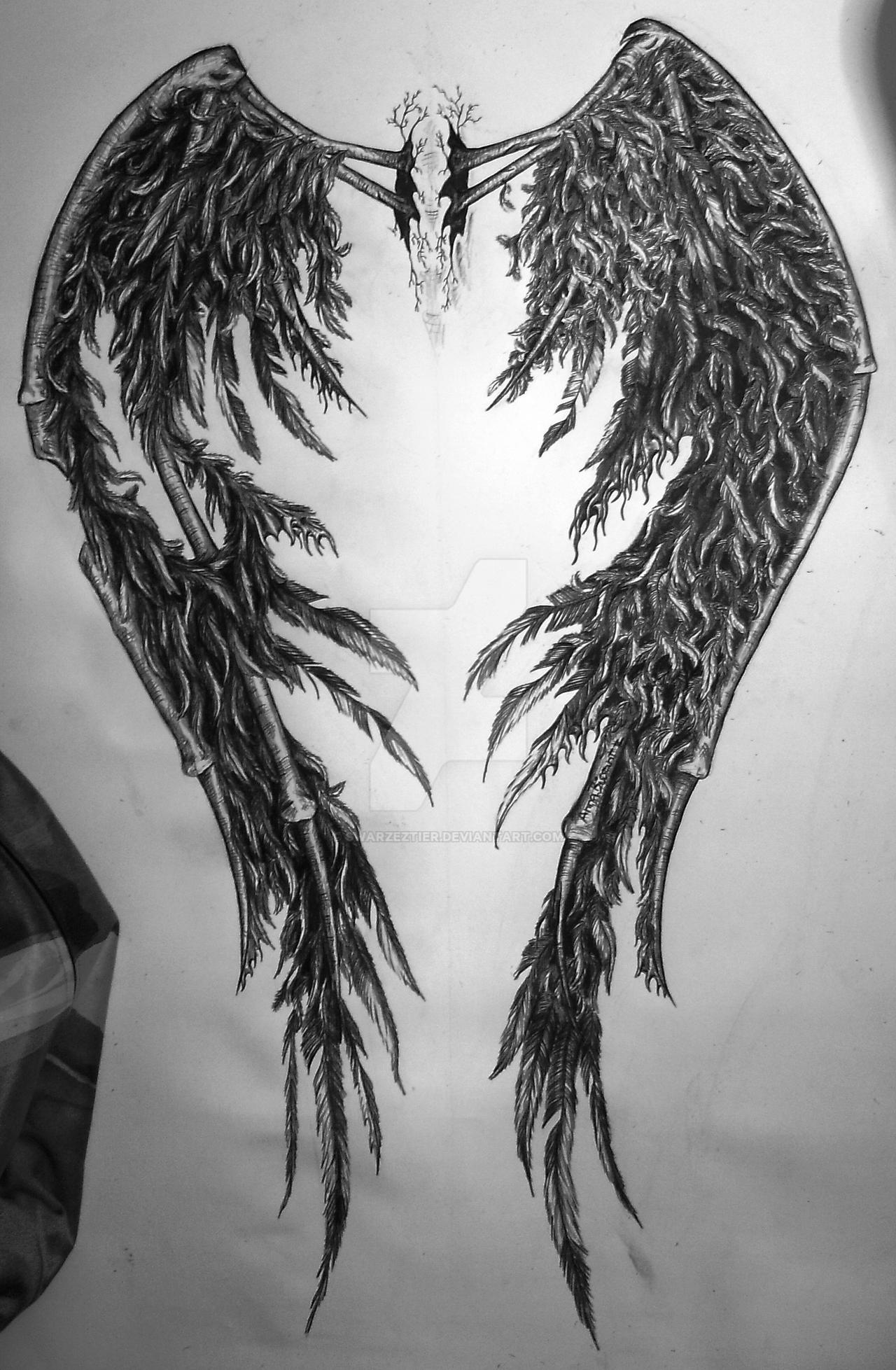 fallen angel wings 2 by SwarzezTier on DeviantArt