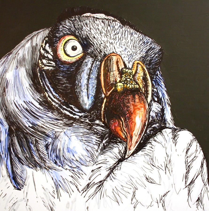 king vulture head by SwarzezTier