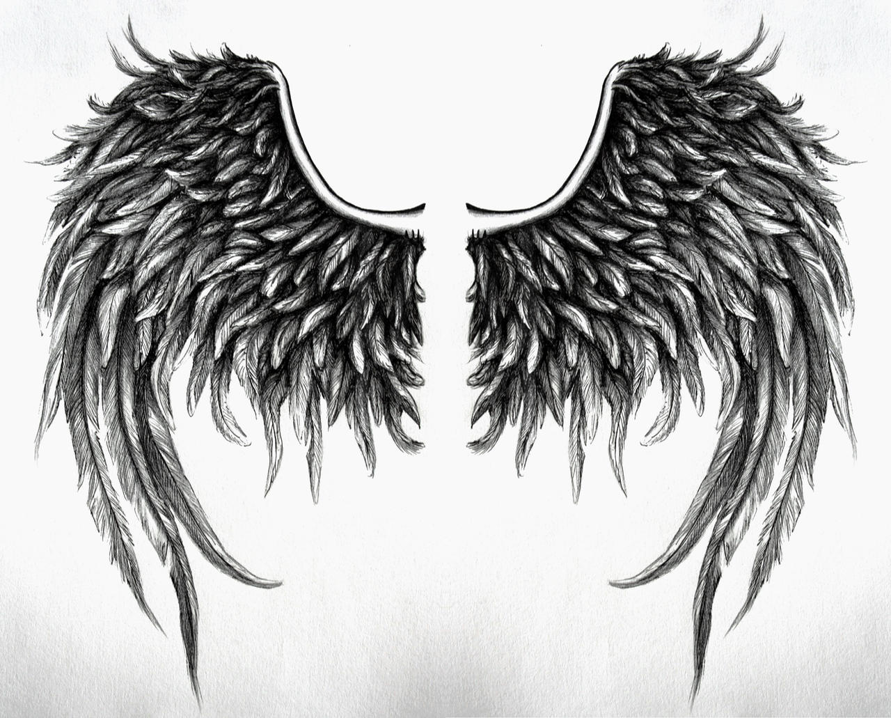 fallen angel wings design no4 by swarzeztier on deviantart. Black Bedroom Furniture Sets. Home Design Ideas
