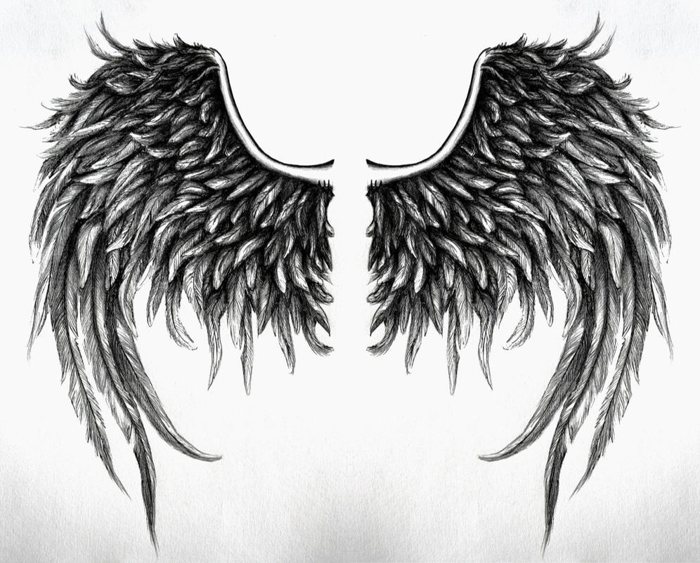 fallen angel wings design no4 by swarzeztier on deviantart. Black Bedroom Furniture Sets. Home Design Ideas