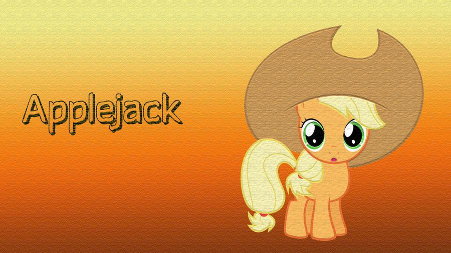 Big Hat Applejack Filly Wallpaper by CKittyKat98