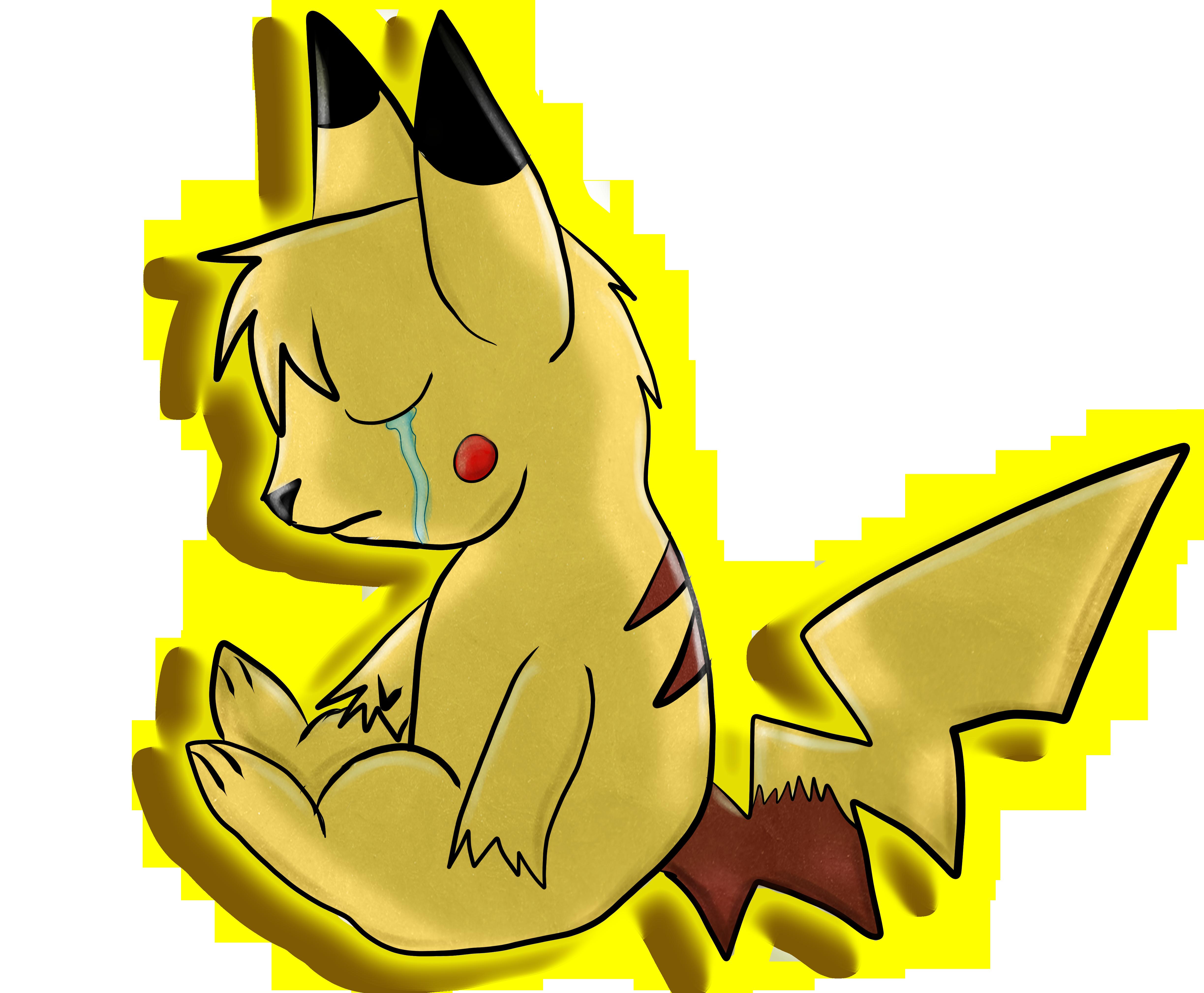 Pikachu crying drawing - photo#21