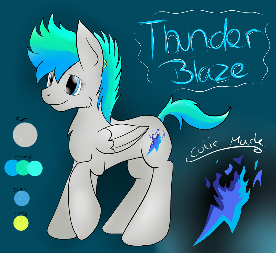 ~Thunder Blaze (New OC) by CKittyKat98