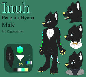 Inuh the Penguin-Hyena Reference Sheet by CKittyKat98
