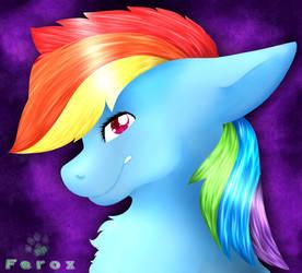 Rainbow Dash! Lineless by CKittyKat98