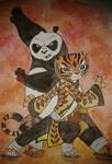 Po and tigress ( Kung fu panda 3 )