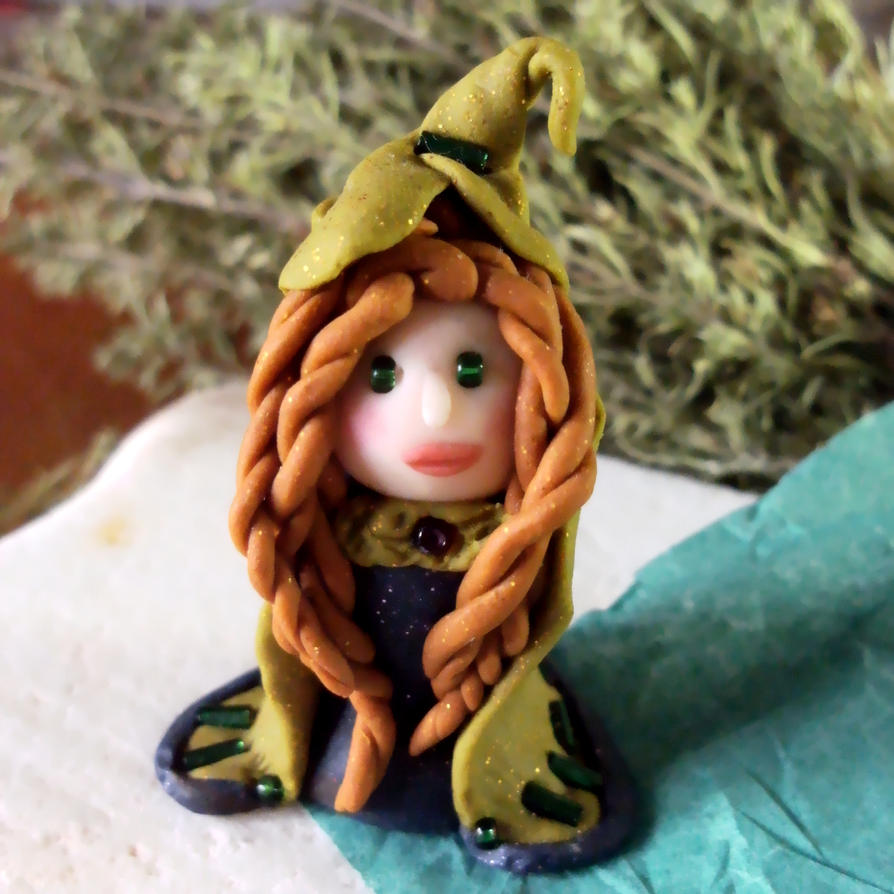 Olive Little Witch by wytchwolf