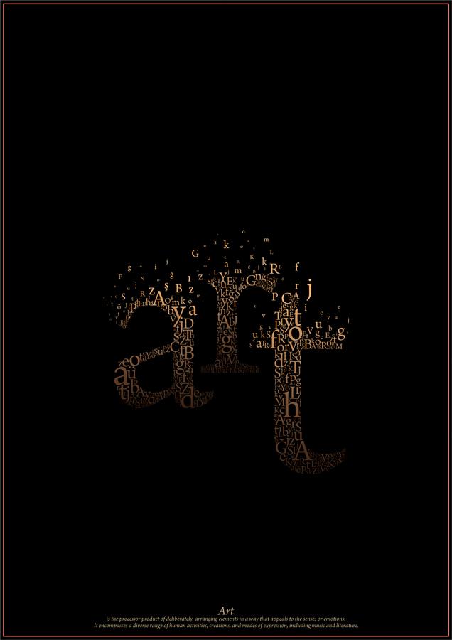 type art invert by dogukanaksu